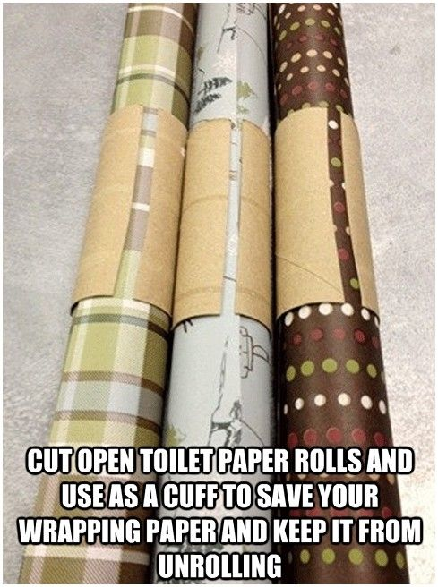 Wrapping paper cuff idea christmas wrapping paper life hacks christmas life hacks christmas ideas christmas diy