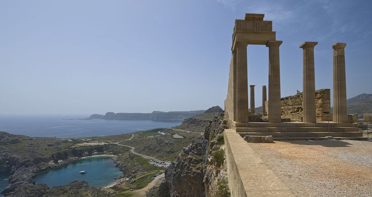 On the acropolis at Lindos. Temple of Athena (ca. 300 B.C.).