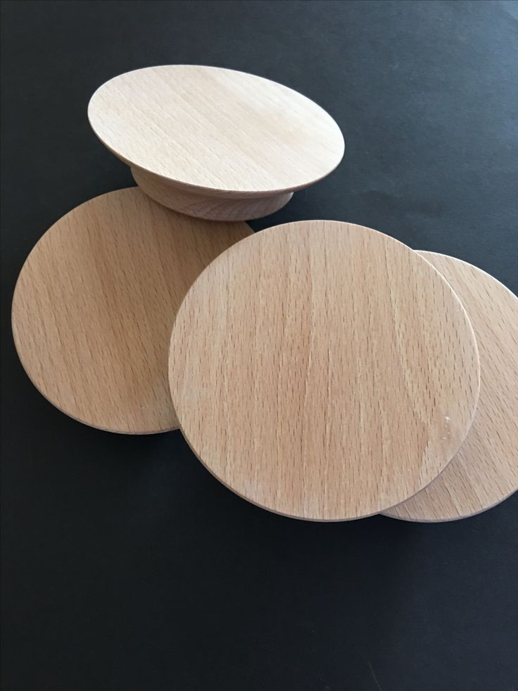True blonde timber gives Scandi-style to 'Slimline round door handle Timber: European beech.