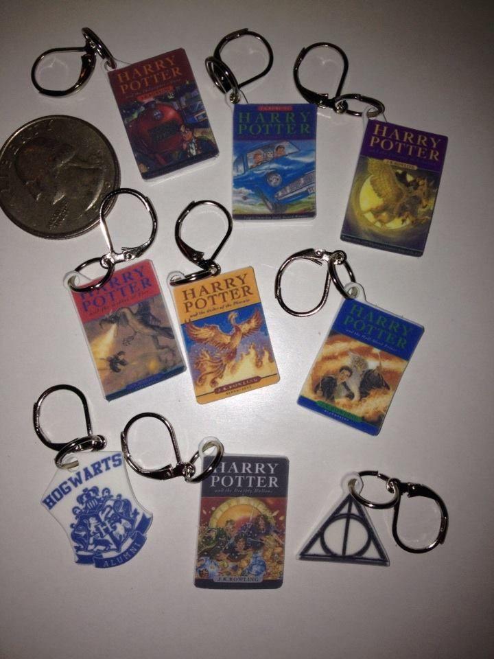 Harry Potter book cover Stitch Markers, Shrinky Dinks Laser Printer