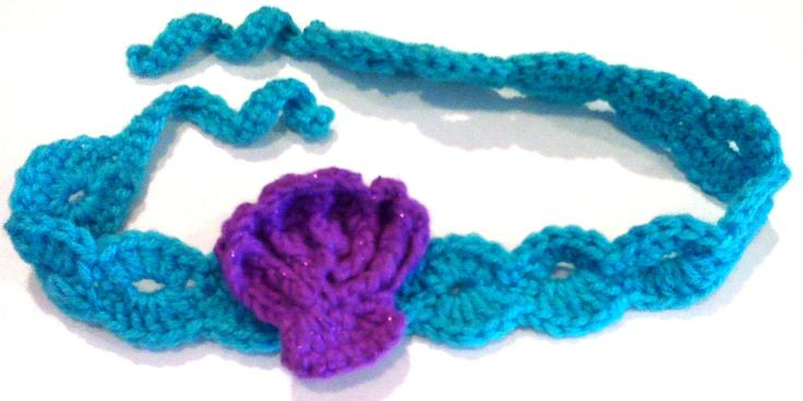 The Little Mermaid Crochet Headband