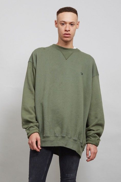 Moss green vintage oversized 90's Champion sweater
