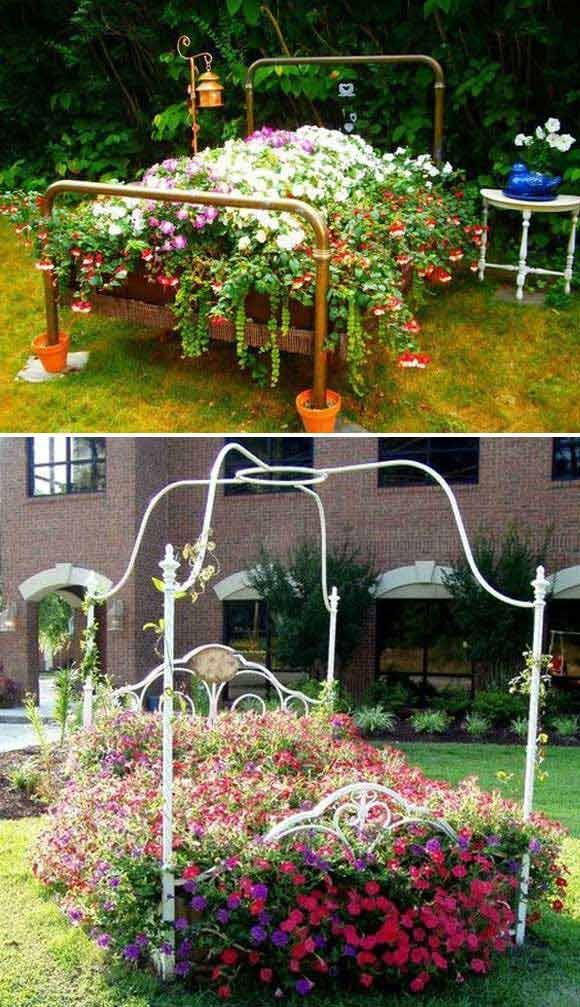 For Those Of People Who Love Enjoying The Warm Spring Weather In The Garden And Want To Some Ideas To Make Th Backyard Flowers Beds Diy Garden Bed Garden Beds