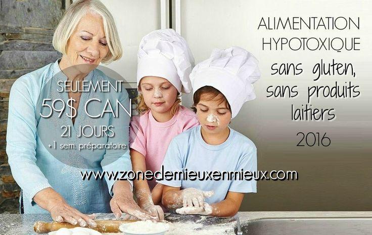 Photo 21 jours Alimentation hypotoxique sans gluten, sans produits laitiers Canada