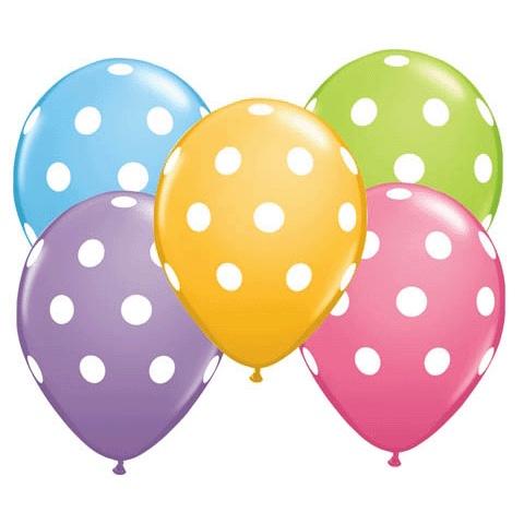 Image of Ballons à pois de couleur