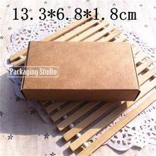 Groothandel kraft gift verpakking dozen retail macaron bakkerij cookies aangepaste papier doos gratis verzending 13.3*6.8*1.8cm(China (Mainland))