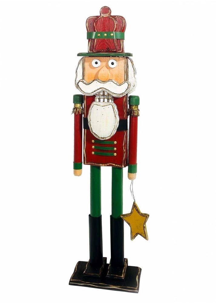 Nutcracker xmas. Διακοσμητικός καρυοθραύστης, μολυβένιος στρατιώτης/ Christmas decoration/ Christmas ornaments/ 120cm