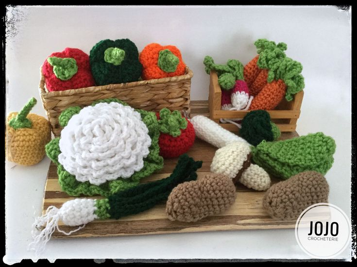 Légumes, vegetable par LaCrocheterieJojo sur Etsy https://www.etsy.com/ca-fr/listing/585899702/legumes-vegetable