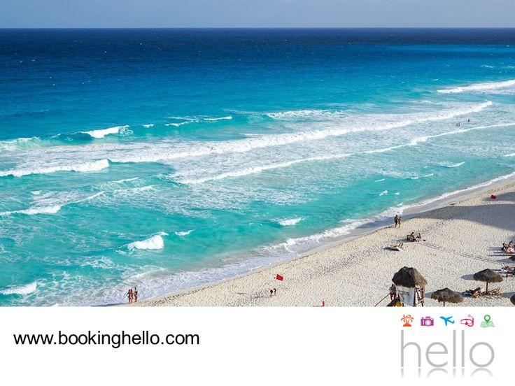 VIAJES EN PAREJA. Las playas de Cancún son las más visitadas de México y es que nadie se resiste a nadar en sus cálidas aguas color turquesa. Además de ser sencillamente perfectas para relajarse, en ellas también se puede disfrutar al máximo la variedad de actividades acuáticas y subacuáticas que aquí se ofrecen. En Booking Hello logramos que tengas un viaje perfecto con todo incluido y al mejor precio, a través de nuestros packs. ¡Conócelos! #viajesenparejalcaribe