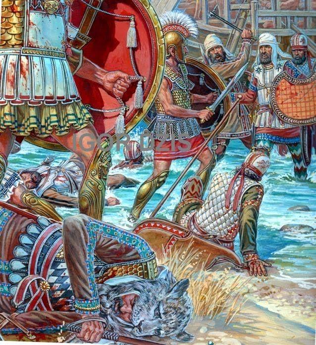 IGOR DZIS BATTLE PAINTING: Battle of Marathon(12 September, 490 BC)