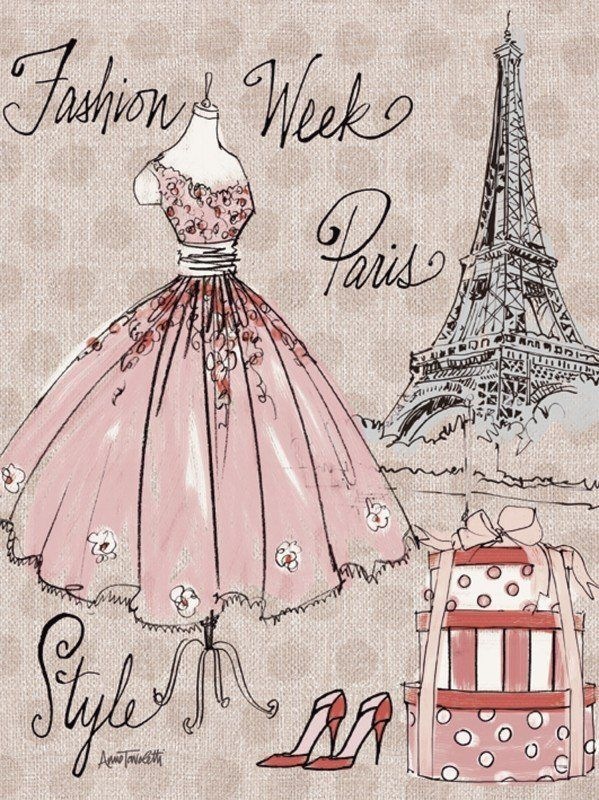 Artland Poster, Leinwandbild »Fashion Frau Menschen Mode Paris Illustration«
