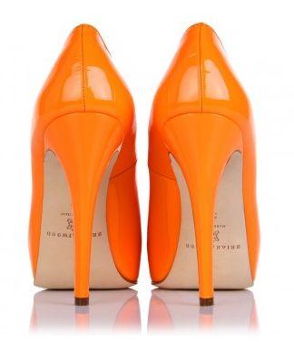Brian Atwood Stiletto Orange Pump