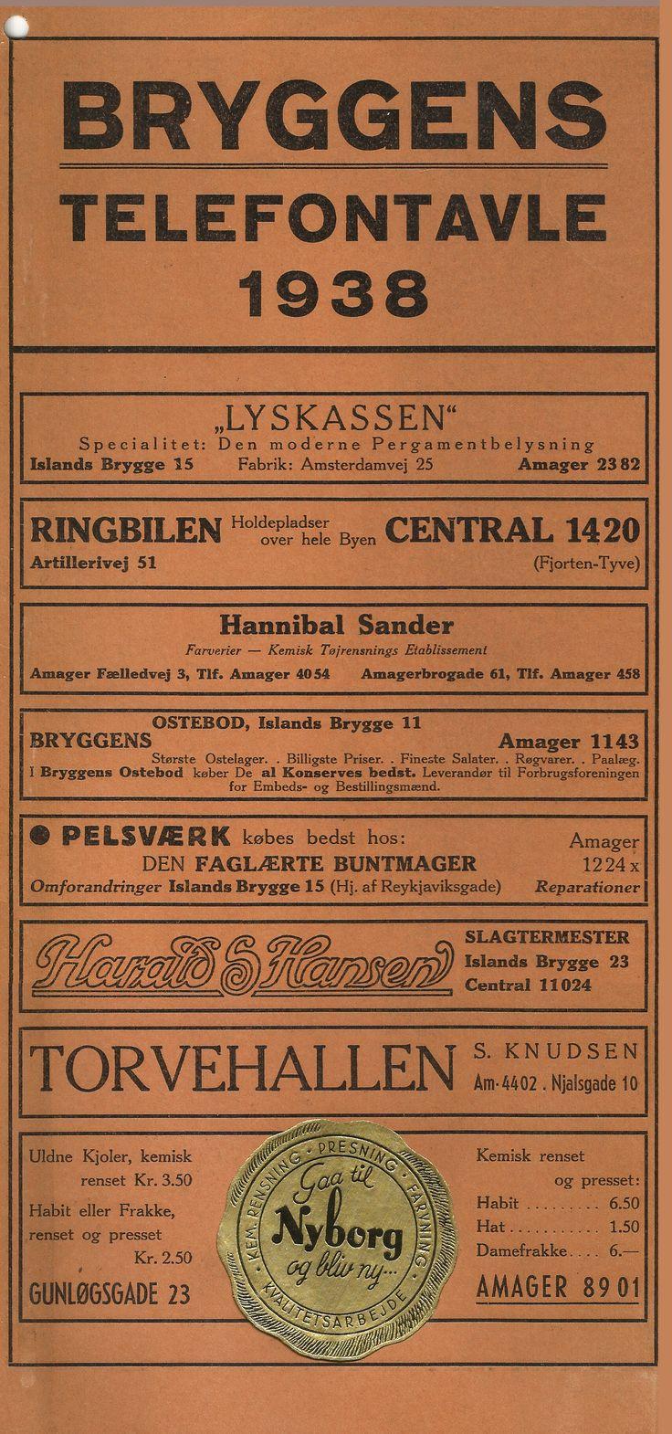I forlængelse af de sidste par indlæg, så kommer der her en telefontavle fra Islands Brygge. Telefontavlen er fra 1938, og viser en del af de forretninger som var på Bryggen dengang, -plus et par stykker udenfor Bryggen... #Telefontavle #Telefonliste #Telefon #Islandsbrygge #Bryggen