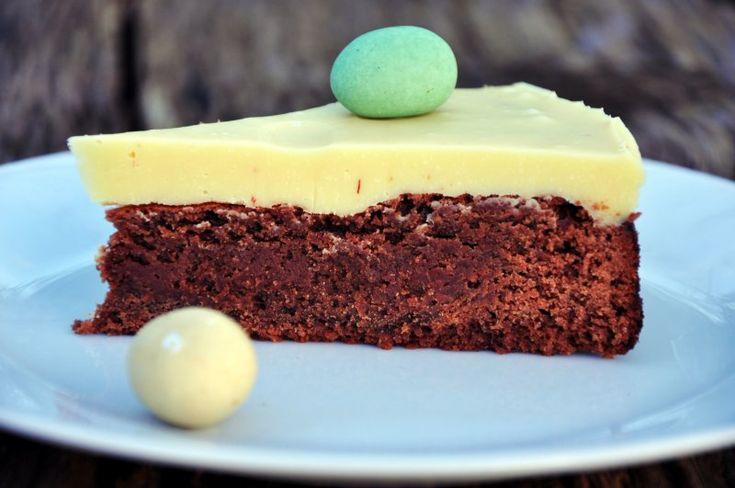 Chokoladetærte til påske, Danmark,Påske, Dessert, Tærter, opskrift