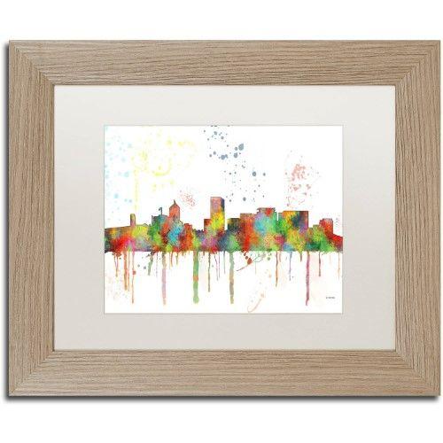Trademark Fine Art \'Portland Oregon Skyline Mclr-1\' Canvas Art by ...