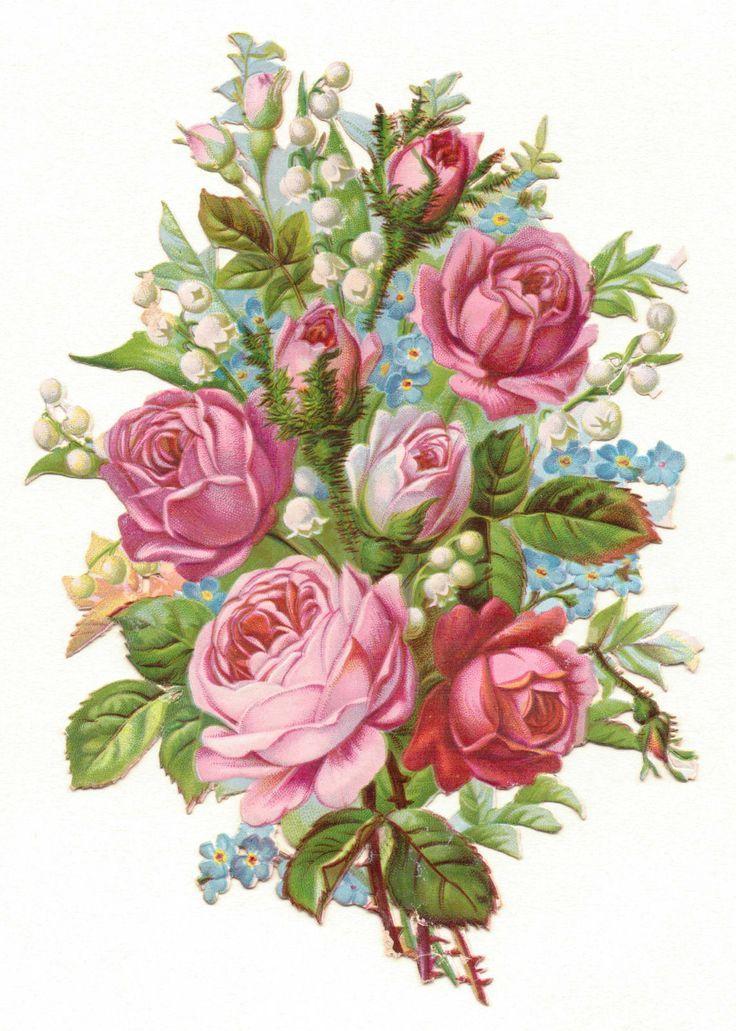 Картинки винтажные цветы и букеты для декупажа