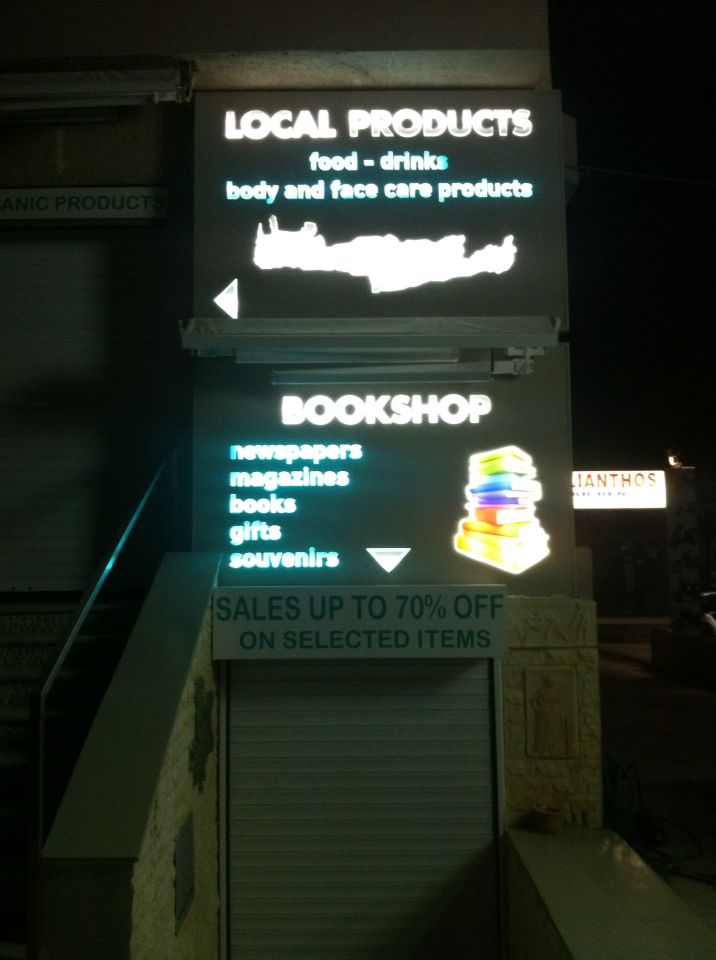 Sign with led and plexiglass