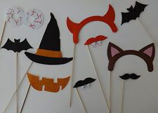 Halloween Photo Booth Props Halloween mustache on a Witches hat vampire teeth