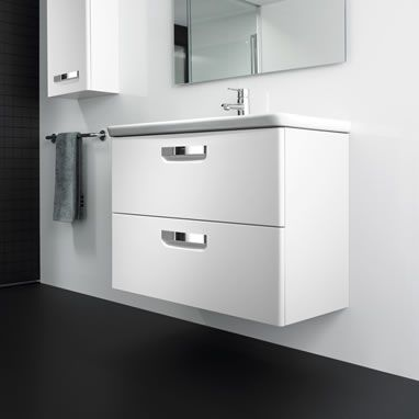 Roca Gap Unik 800mm Vanity Unit and Basin White Finish - Roca Bathroom Furniture