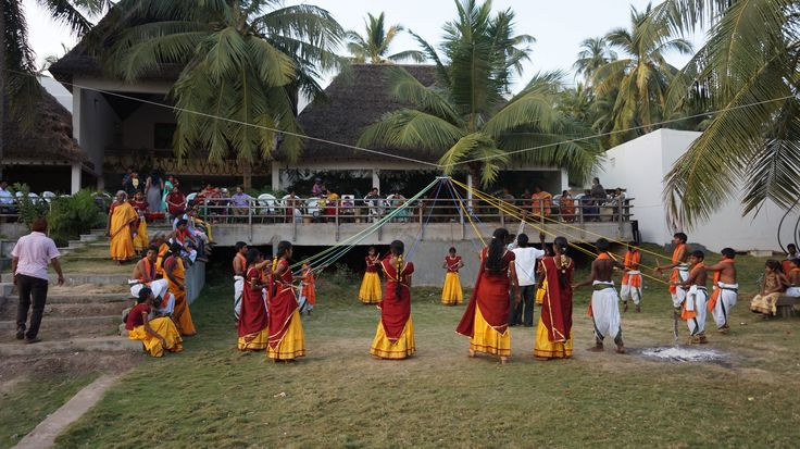 In Sankranthi festival the Kolattam dance involves religious offering homage to the temple Goddess by the women of a region, especially at konaseema Andhra Pradesh.
