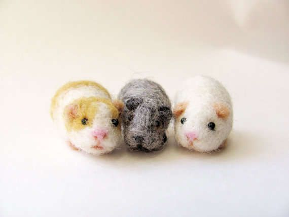 felted hamsters, no mess, no fuss, and just as adorable!
