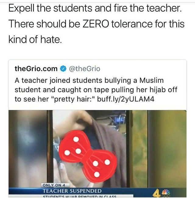 Riping off a muslim girl's hijab to see her hair is like pulling one's skirt up to stare at her butt or opening her top to see her breasts. It's sexual harassment. Disgusting.