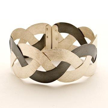Bracelet |  Rafal Kozubowicz.  Bi-colour silver