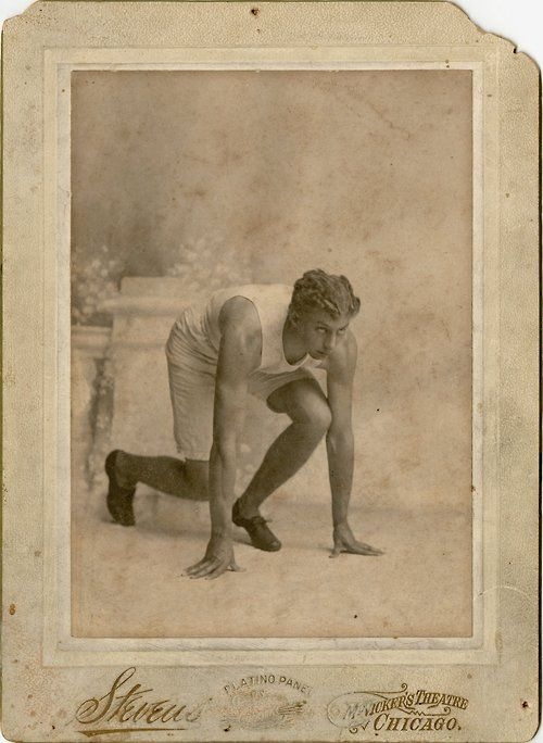 Alvin C. Kraenzlein, age 24, competed in the 1900 Olympic Games in Paris. He won four medals, in the 200-meter and 100-meter hurdles as well as the 60-meter dash and the broad jump. He's credited with inventing the modern straight-leg hurdling style.