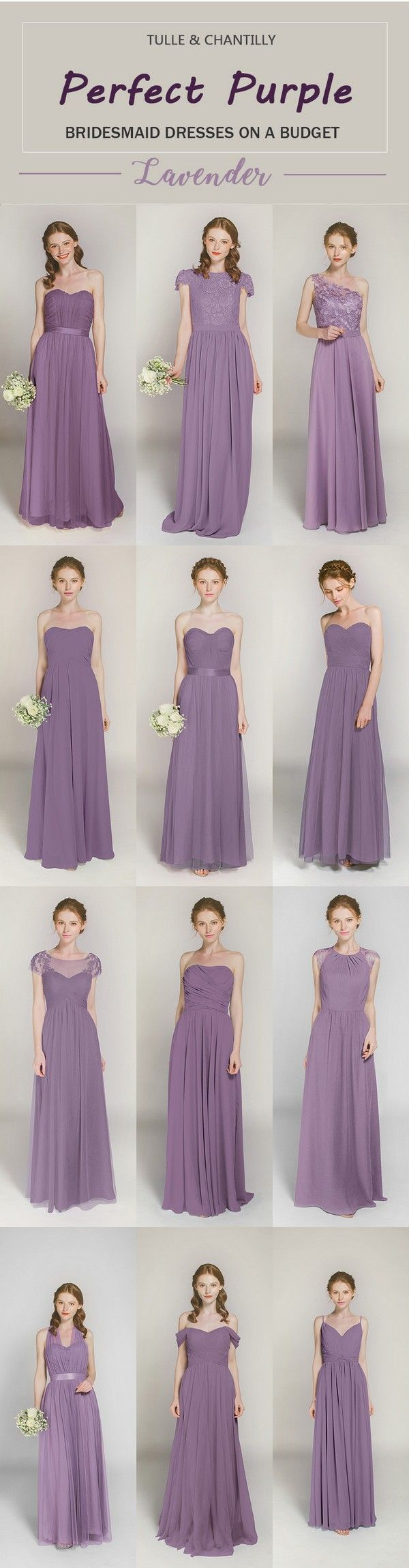 affordable lavender long bridesmaid dresses-click to see 44 more colors