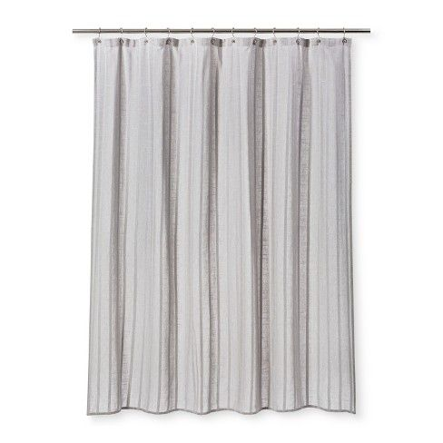 Dyed Striped Shower Curtain Cashmere Gray Threshold White Shower Curtain Striped Shower Curtains Curtains