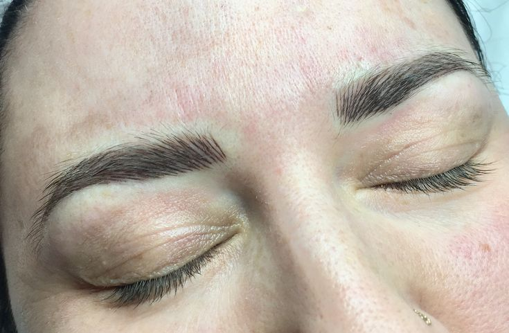 Fluffy hairstroke brows, this is a 6-12 month colour boost 💕  www.sarahcatherinecosmetics.com?utm_content=bufferbe74e&utm_medium=social&utm_source=pinterest.com&utm_campaign=buffer