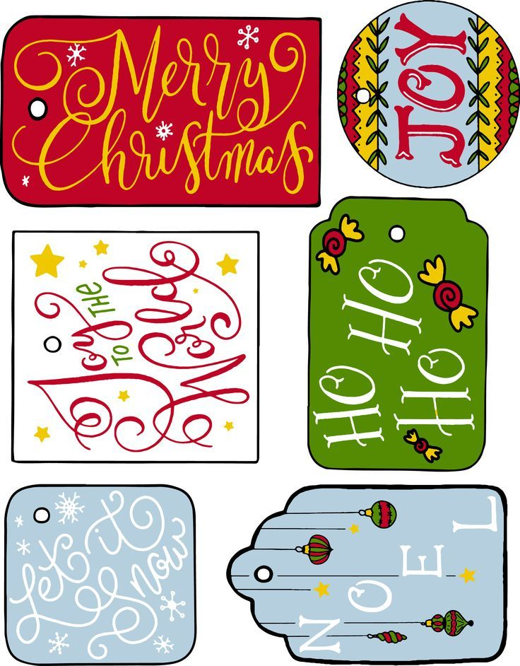 free christmas printable gift tags love love love a non colored rh pinterest com