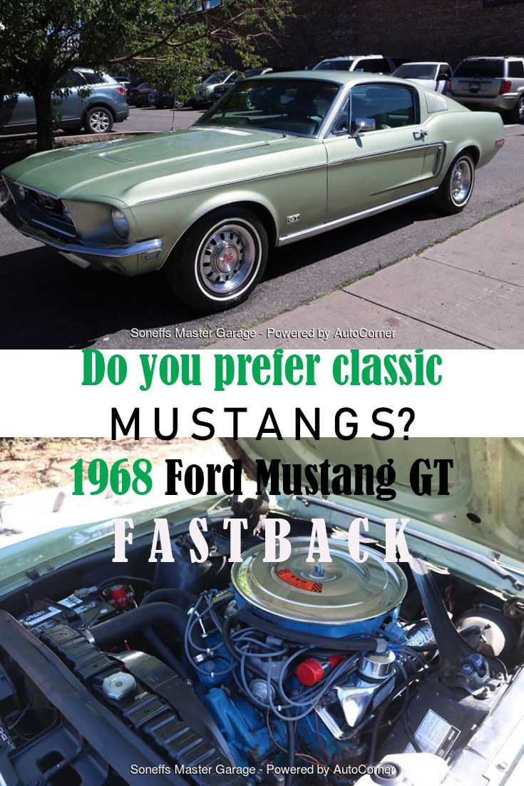 For Sale 1968 Fordmustanggtfastback With A 390 Engine And A 4