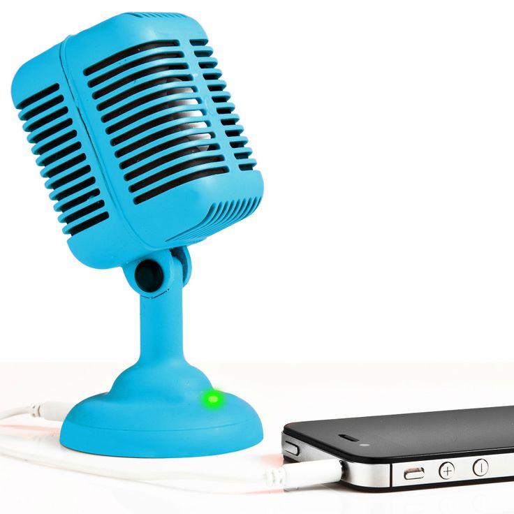 Spinning Hat | Rockabilly Mic Speaker http://www.spinninghat.com/product/rockabilly-mic-speaker/