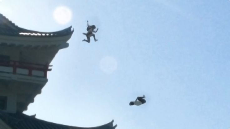 Beverage Promotional Video Shows Two Schoolgirls Doing Impossible Stunts & Leaping Off Rooftops in Japan