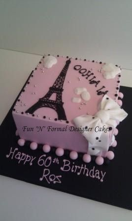 Paris themed Birthday Cake. | Flickr - Photo Sharing!