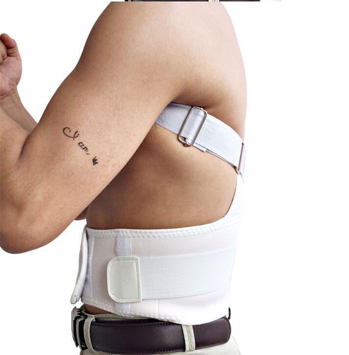 Unisex Adjustable Back Posture Corrector Brace Back Shoulder Support Belt Posture Correction Belt for Men Women Black S-XXL