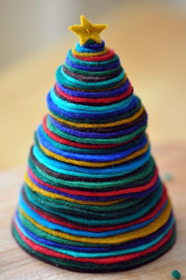 Christmas felt crafts | Felt Christmas tree | Felt craft inspiration