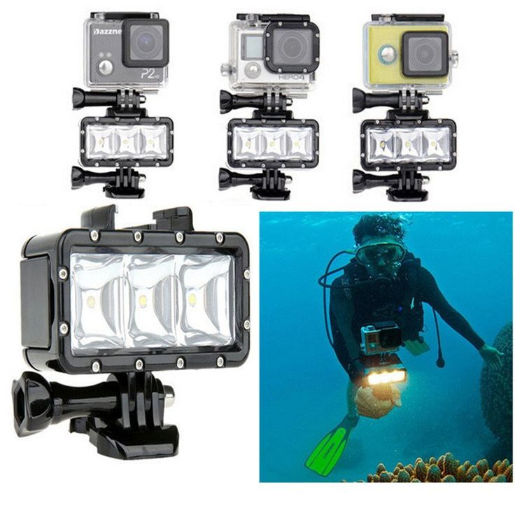 Sold by goprostuff.net ___  Whether you are underwater, on land or in a poorly-lit room, the LED Video Light can provide enough fill light for your action camera. It can assist you to take great pictures even 30-meter underwater with its powerful  LEDs. #gopro #goprohero5 #goprosession #goprohero4 #goprohero3 #hero3plus #goprostuff #goproaccessories #gopro #actioncam #diving #underwater #light