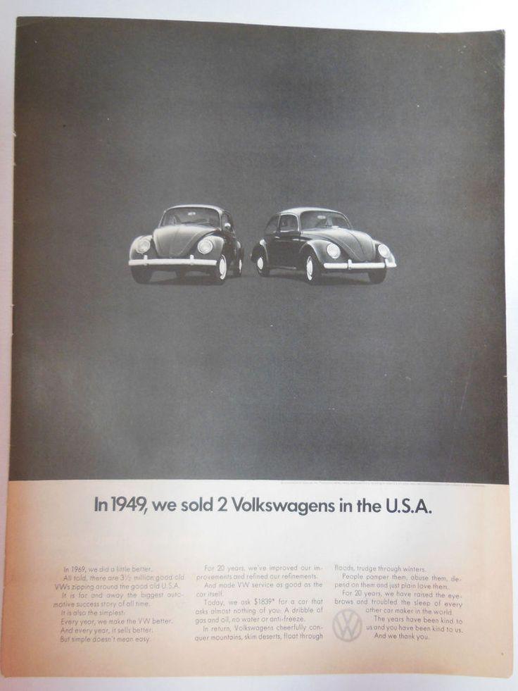 60 best volkswagen images on pinterest vw beetles vw bugs and beetles vw volkswagen beetle bug ad 1960 original retro vintage automobilia advertising fandeluxe Image collections