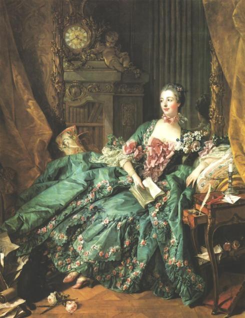 madame pompadour, 1757, autor: boucher,    rococo