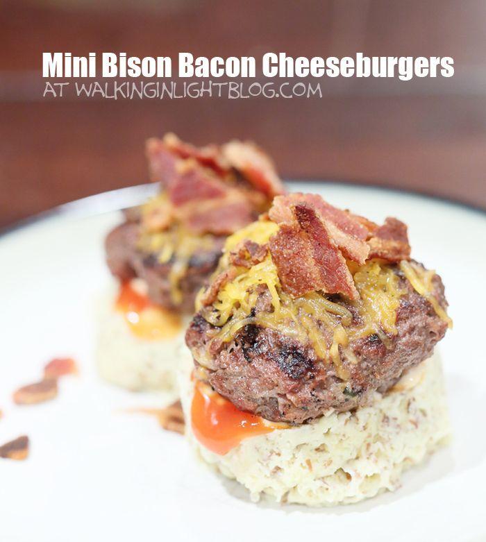 Mini Bison Bacon Cheeseburgers