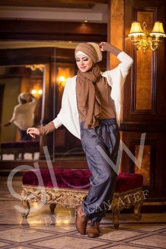 Fall hijab fashion by Jailan Atef | Just Trendy Girls