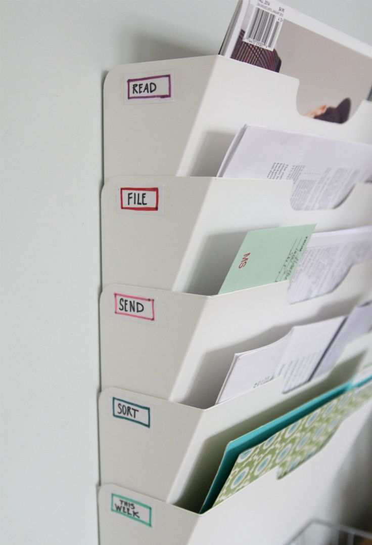 mail & paperwork filing - what a smart and simple way to get organized #organization #diy #office