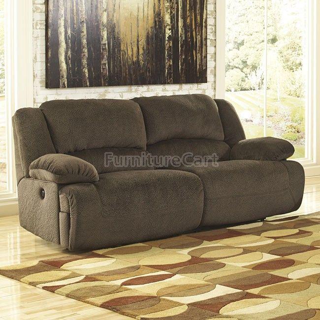 Toletta Chocolate Reclining Power Sofa Signature Design | Furniture Cart