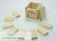 Holzbausteine der Spielgabe 4 nach Fröbel