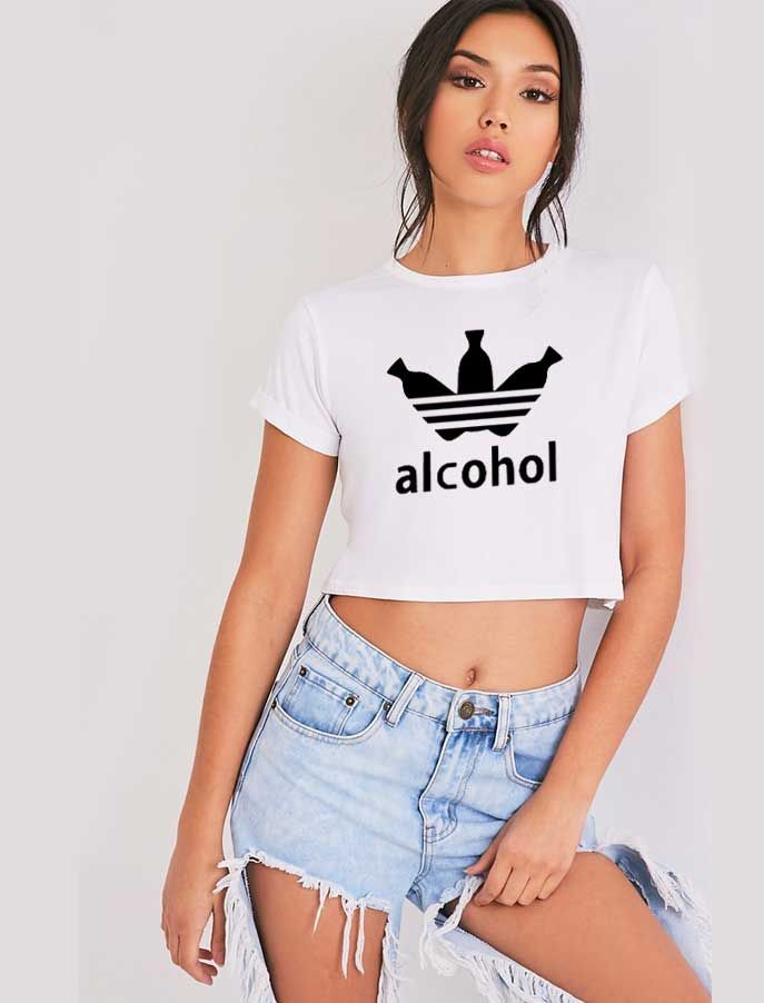 3b570bd9a0f Adidas Parody Alcohol Crop Top Shirt | Best Crop Tops In USA in 2019 ...
