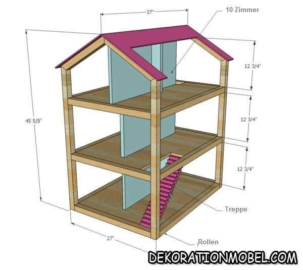11 besten puppenhaus bauplan bilder auf pinterest puppenh user holzspielzeug und holzarbeiten. Black Bedroom Furniture Sets. Home Design Ideas