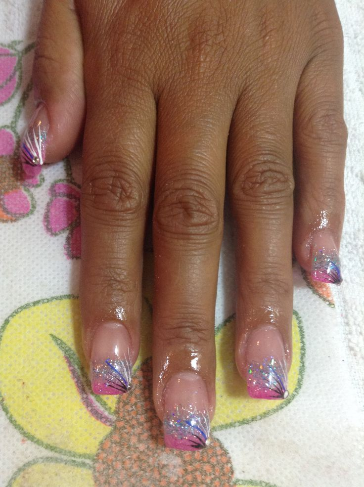 Difuminado en dos tonos y mano alzada con cristales