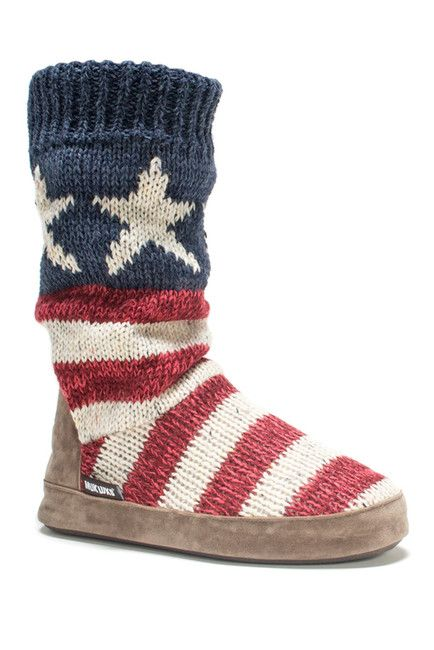 Image of MUK LUKS Vanessa Americana . Slipper Boot sold out at nord rack @3. use usually 34.+